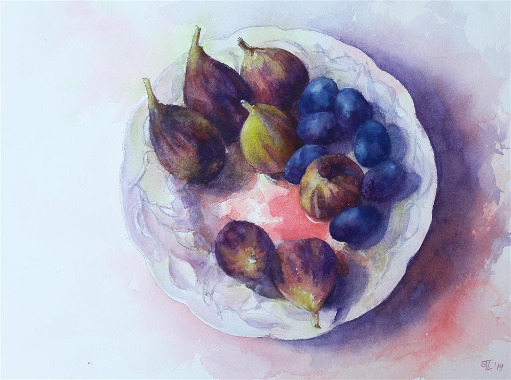 """Autumn delights"" original fine art by Olga Lefort-Touboltseva"