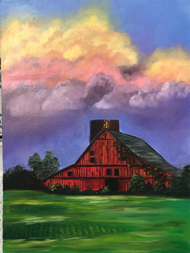 """Farm Lights II"" original fine art by Tamara Duffy"