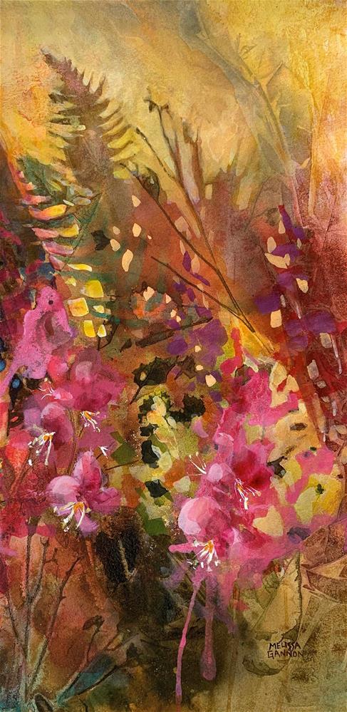 """Fireweed of Summer"" original fine art by Melissa Gannon"