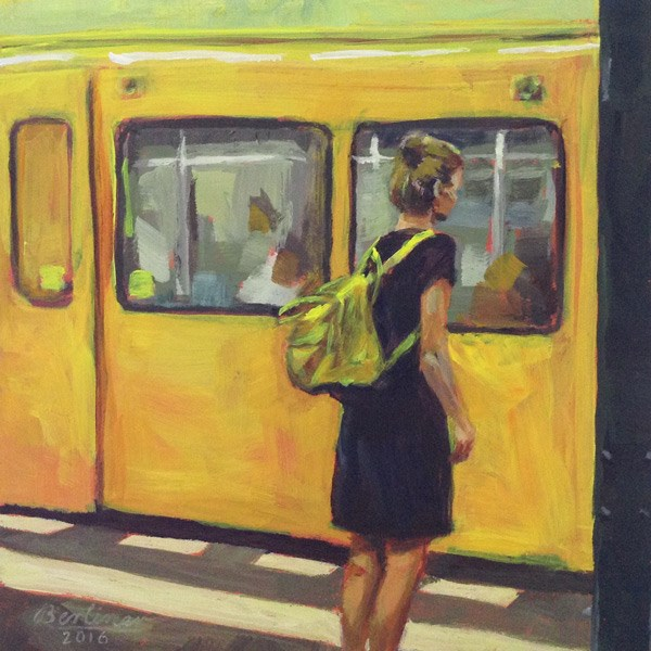 """043 Der goldene Rucksack"" original fine art by Anja Berliner"