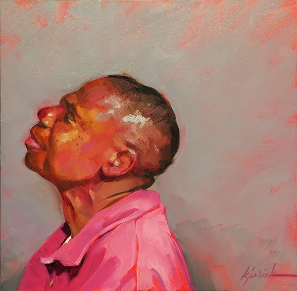 """200 Faces, No. 127"" original fine art by Karin Jurick"