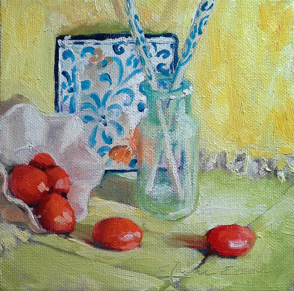 """""""Chopsticks"""" original fine art by Elaine Evans"""