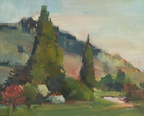 """Wheeler Road"" original fine art by Patti McNutt"