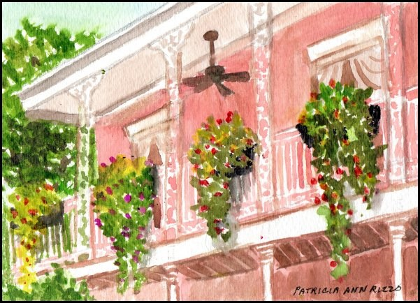 """""""Down Yonder in New Orleans"""" original fine art by Patricia Ann Rizzo"""