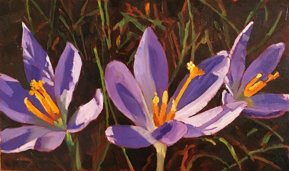 """First Blooms"" original fine art by Carol Granger"