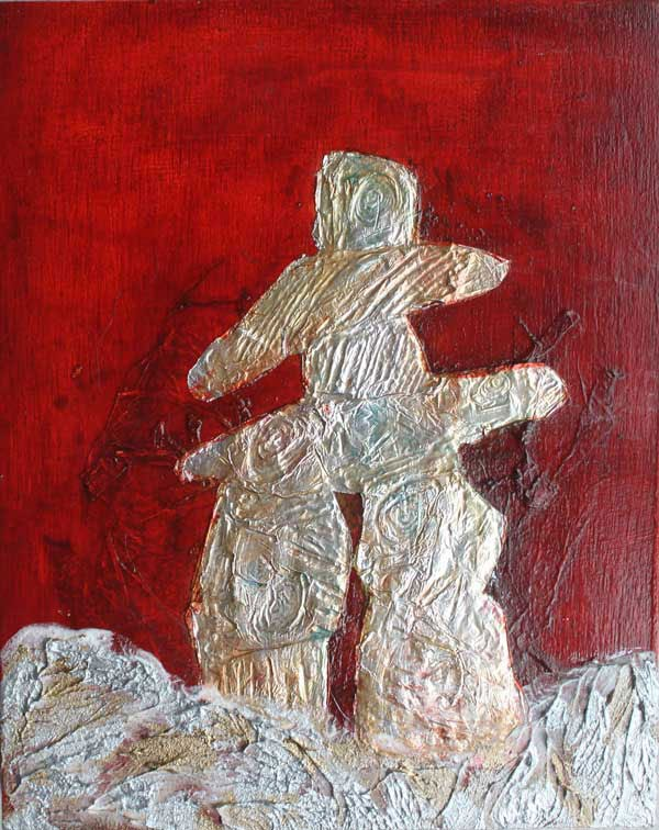 """Inukshuk: In the Image of Man"" original fine art by Christiane Kingsley"