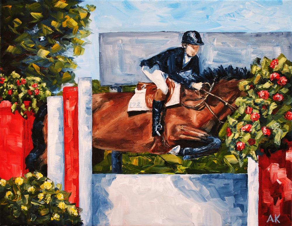 """The Jump Off"" original fine art by Alison Kolkebeck"