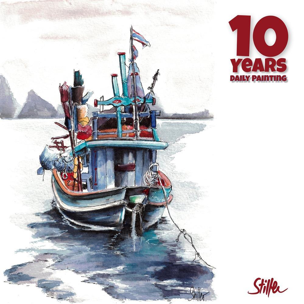 """3657 Fishing Boat Asia"" original fine art by Dietmar Stiller"