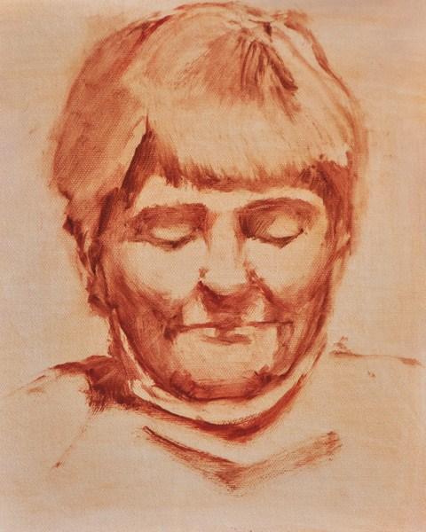 """Woman Reading (Head Study)"" original fine art by Susan Matteson"