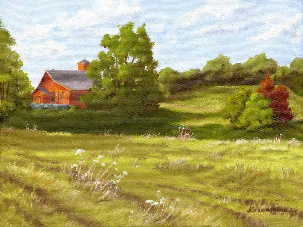 """""""Green Fields"""" original fine art by Jeanne Strohrmann"""