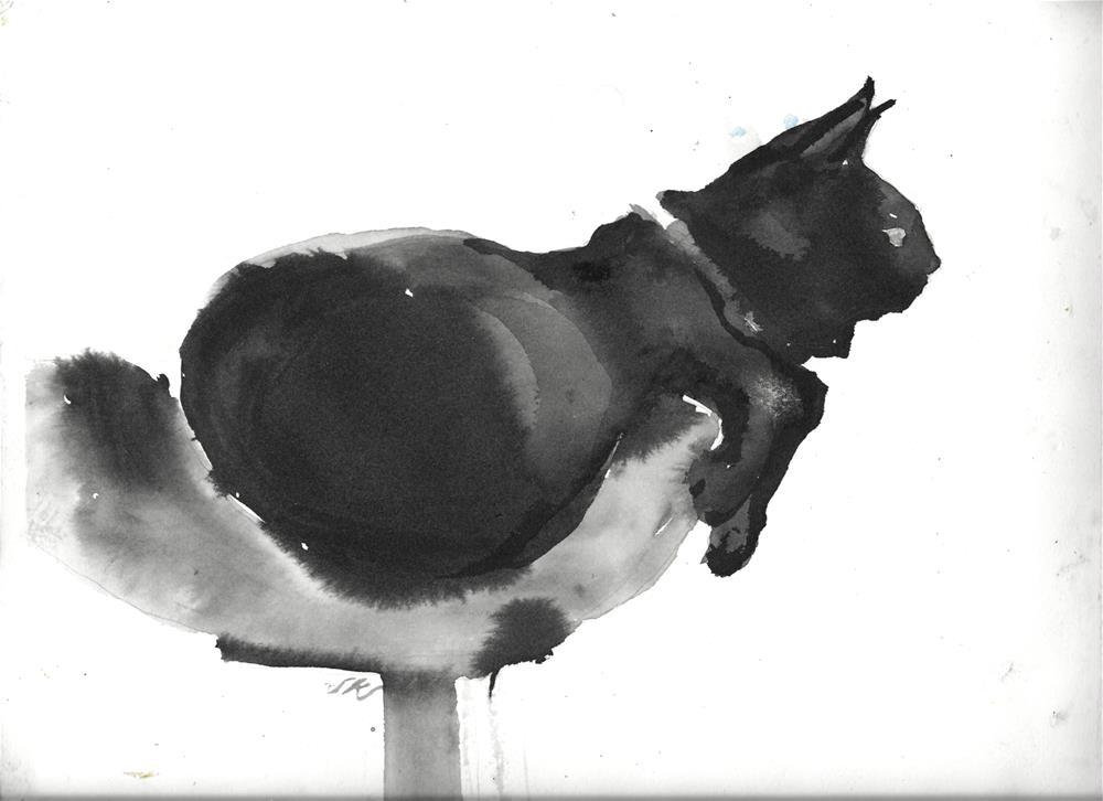 """Daily Cat 57"" original fine art by Jean Krueger"