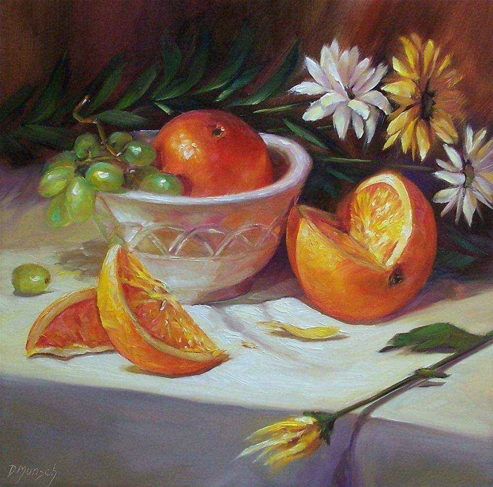"""""""Orange Glow"""" original fine art by Donna Munsch"""
