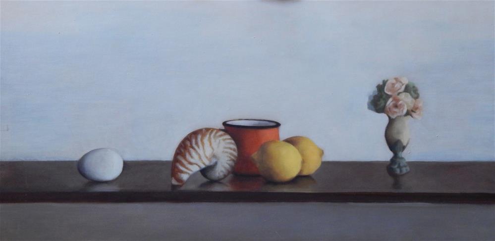 """Still Life with Orange Cup"" original fine art by Megan Schembre"