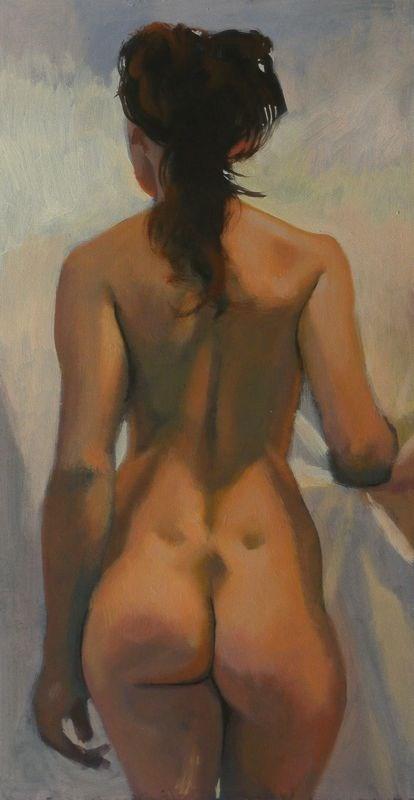 """""""Back"""" original fine art by Peter Orrock"""
