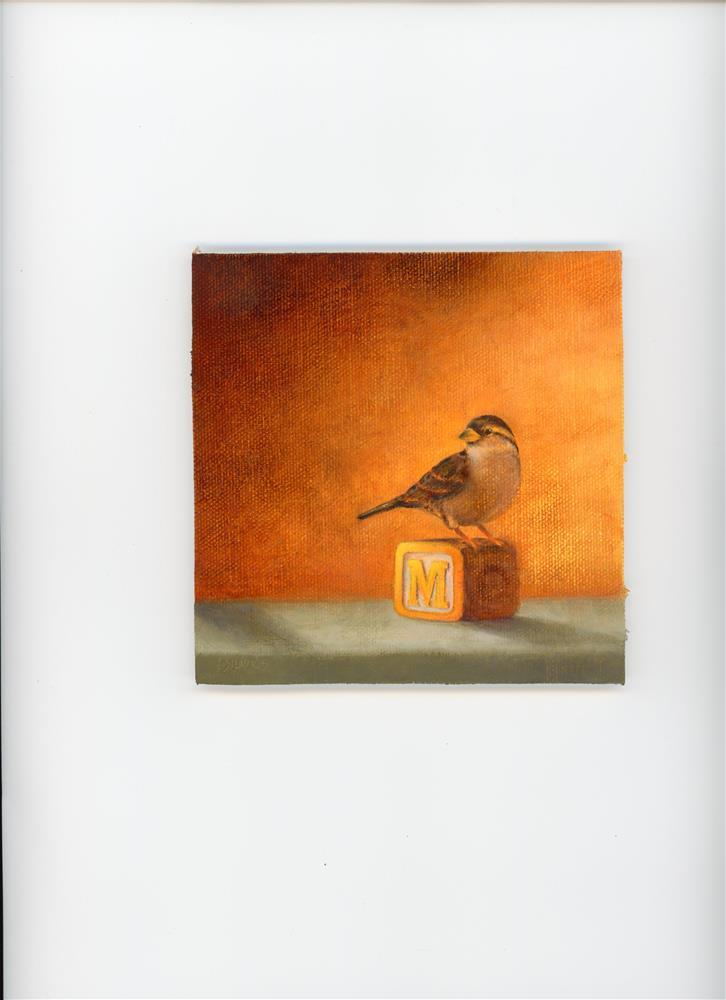 """Sparrow on the Block"" original fine art by Susanne Billings"