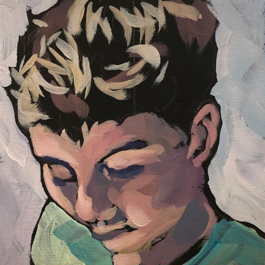 """""""4/5 Max Close Up"""" original fine art by Kat Corrigan"""