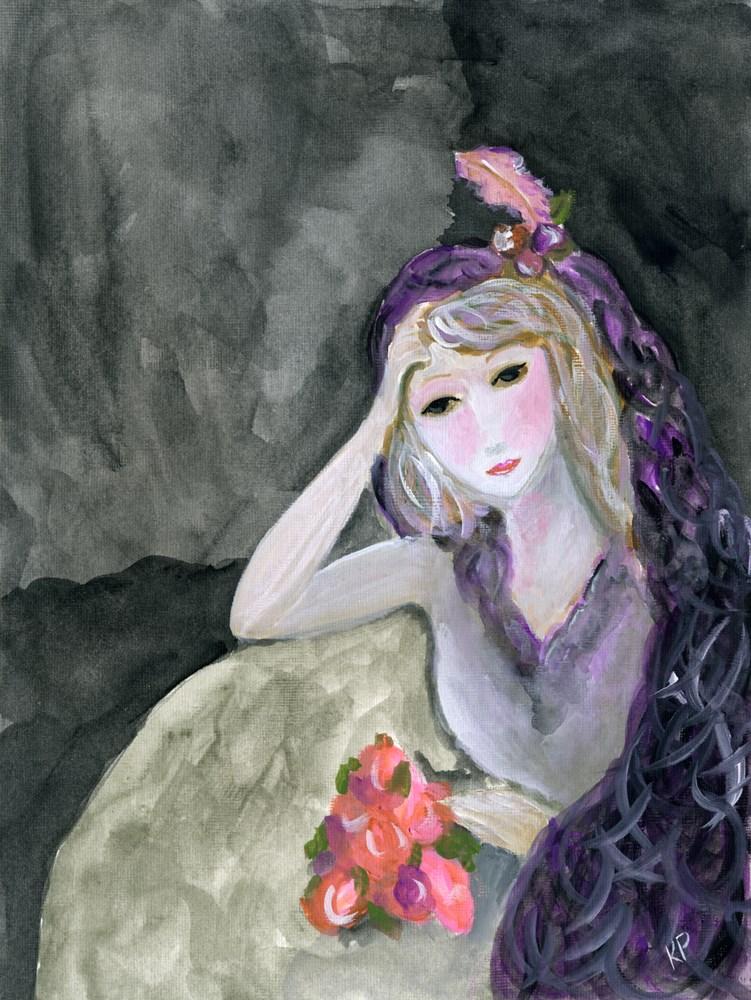 """""""Contemplative"""" original fine art by Kali Parsons"""
