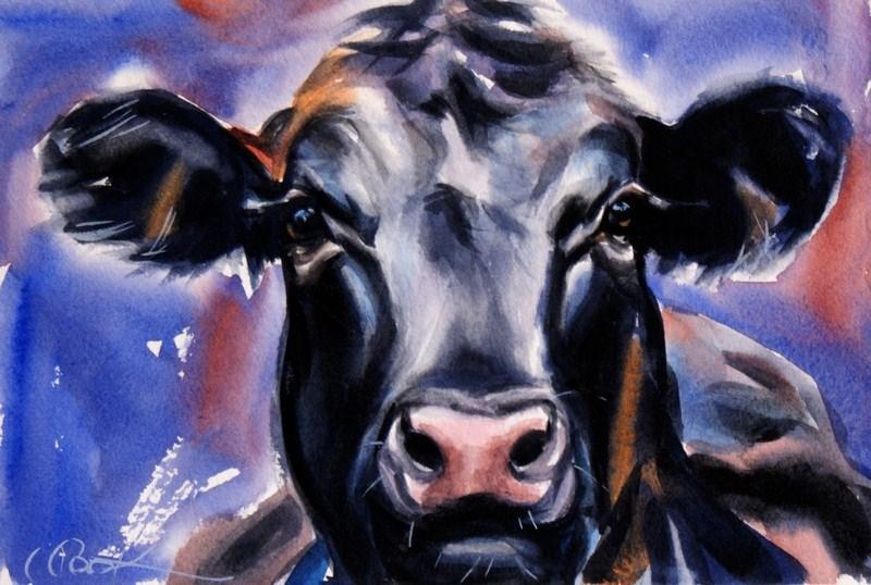 """Dairy Queen"" original fine art by Crystal Cook"