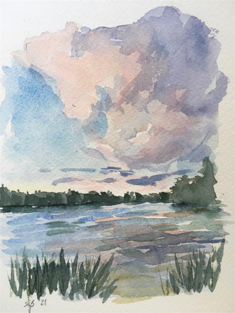 """Cloud Study"" original fine art by Shari Goddard Shambaugh"