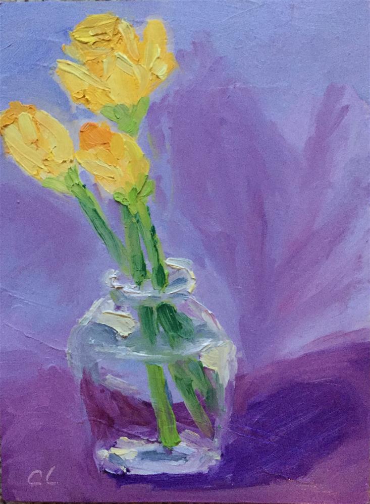 """Late Bloomers"" original fine art by Cheree Apalona Lueck"
