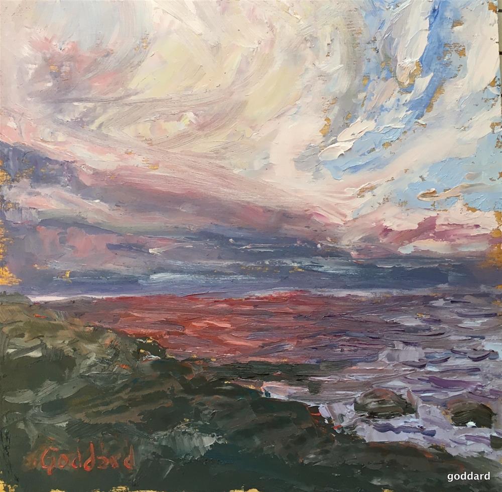 """""""Clearing Skies, Edge of Night"""" original fine art by Shari Goddard Shambaugh"""