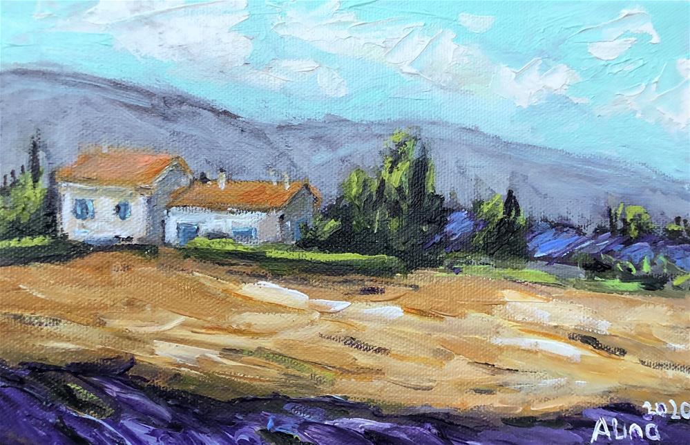 """""""Lavender in Provence"""" original fine art by Alina Vidulescu"""