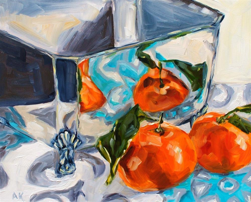 """Square Bowl and Clementines"" original fine art by Alison Kolkebeck"