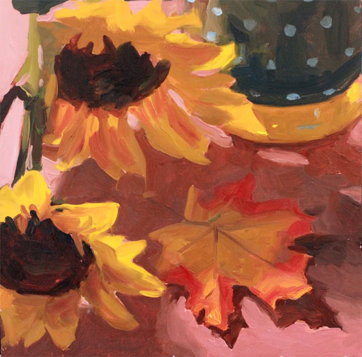 """Fall Feeling"" original fine art by Nealy May Riley"