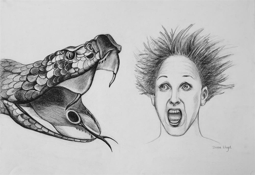 """Surprise!"" original fine art by Diane Lloyd"