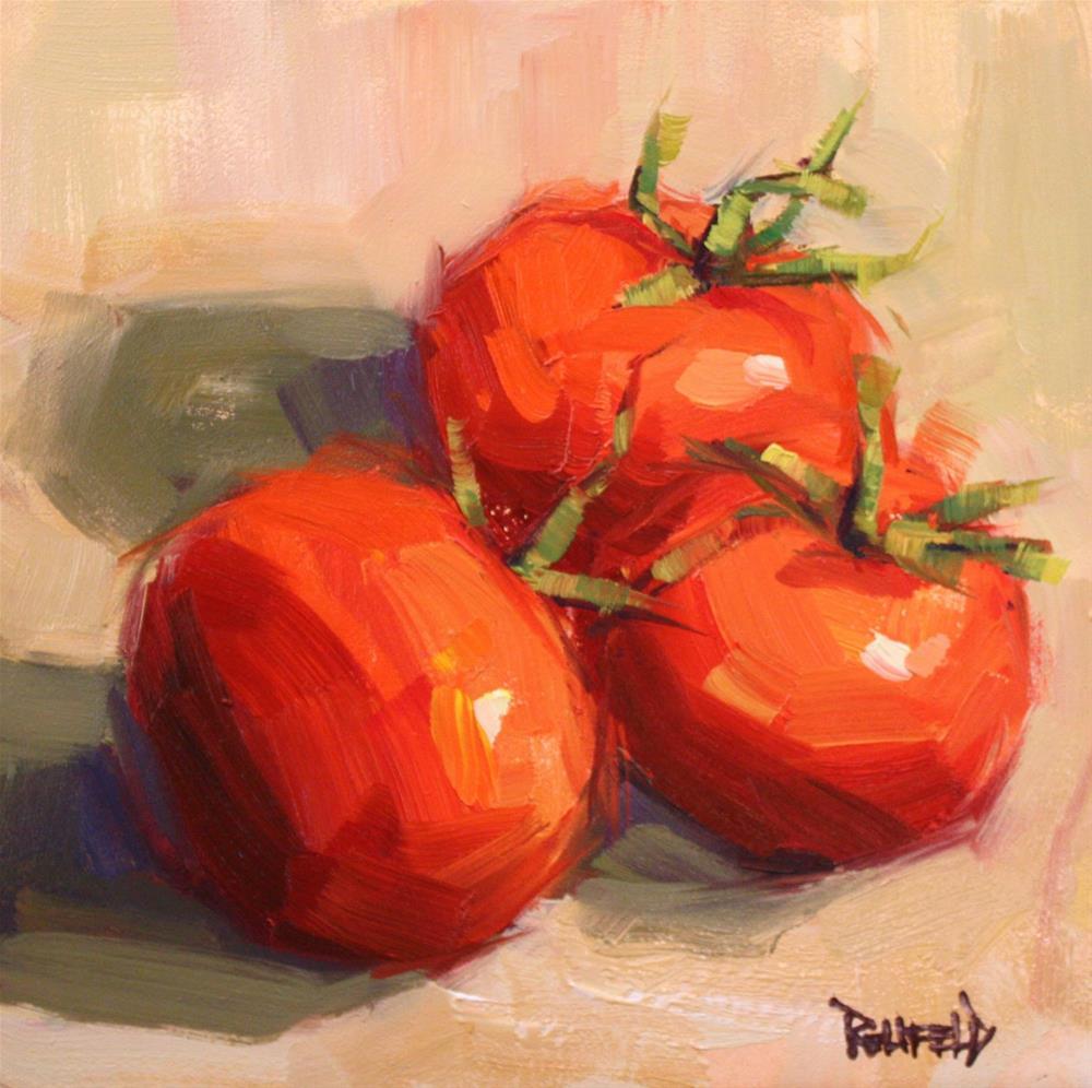 """Spring Tomatoes"" original fine art by Cathleen Rehfeld"