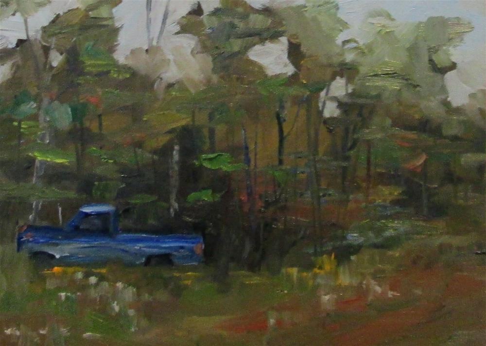 """Blue Truck"" original fine art by Delilah Smith"