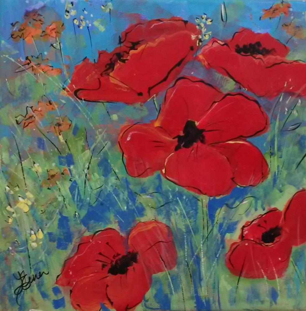 """""""Poppy Fields"""" original fine art by Terri Einer"""