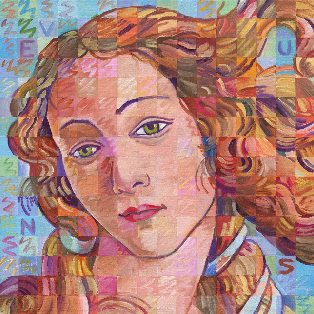 """""""Variations On Botticelli's Venus – No. 1"""" original fine art by Randal Huiskens"""