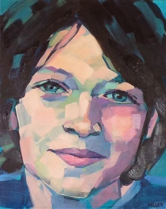"""""""Portrait commission, part 2"""" original fine art by Jessica Miller"""