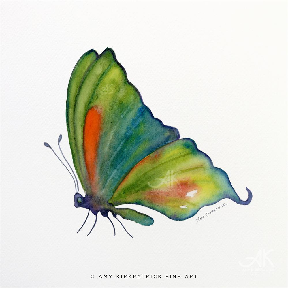 """""""#3 Orange Spot Butterfly #0312b"""" original fine art by Amy Kirkpatrick"""
