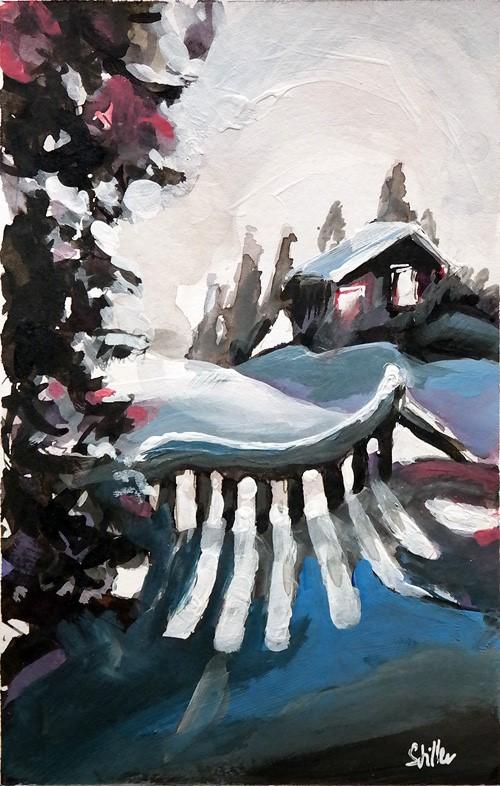 """""""2679 Christmas Land 03"""" original fine art by Dietmar Stiller"""