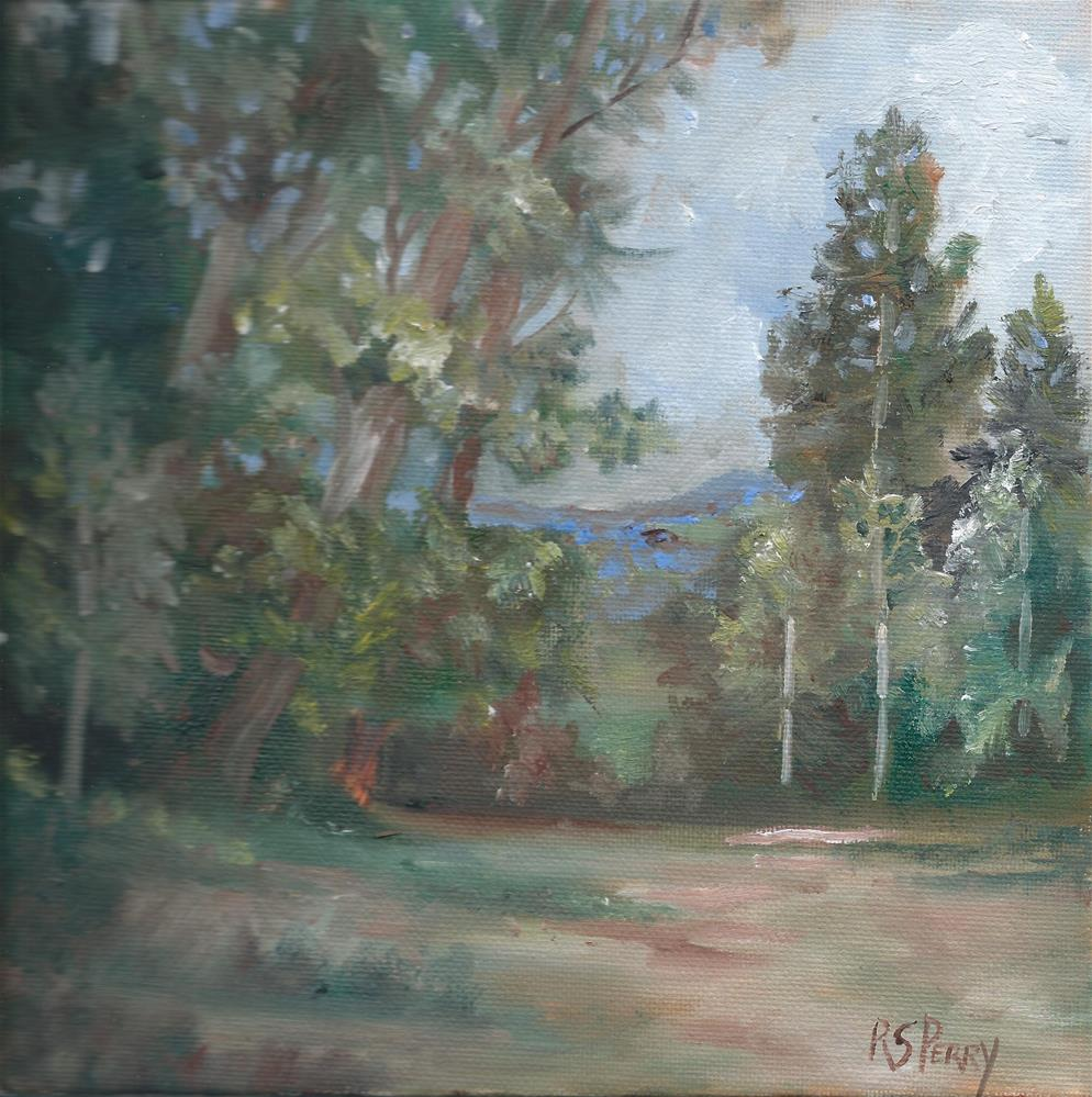 """""""Into the Woods"""" original fine art by R. S. Perry"""