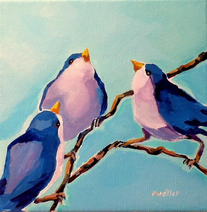 """Sky's the Limit"" original fine art by Laurie Mueller"