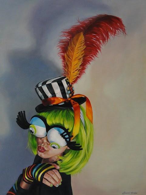 """Louisa Limelight"" original fine art by Angela Hardy"