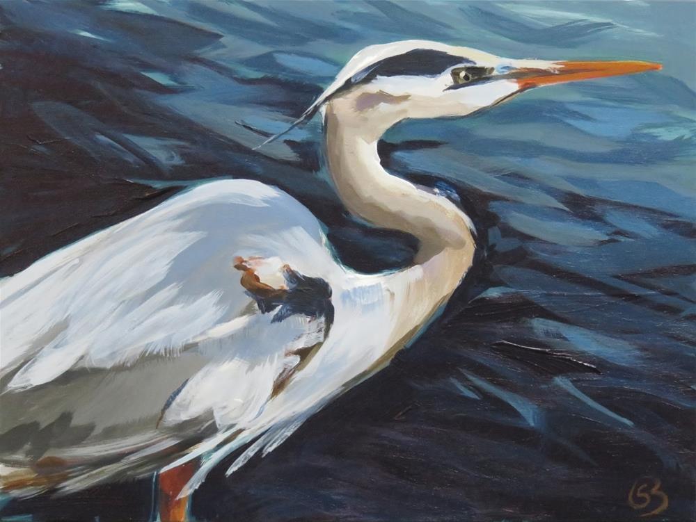 """Heron of the Sea"" original fine art by Shari Buelt"