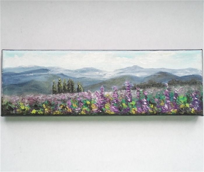 """Misty Mountains"" original fine art by Camille Morgan"