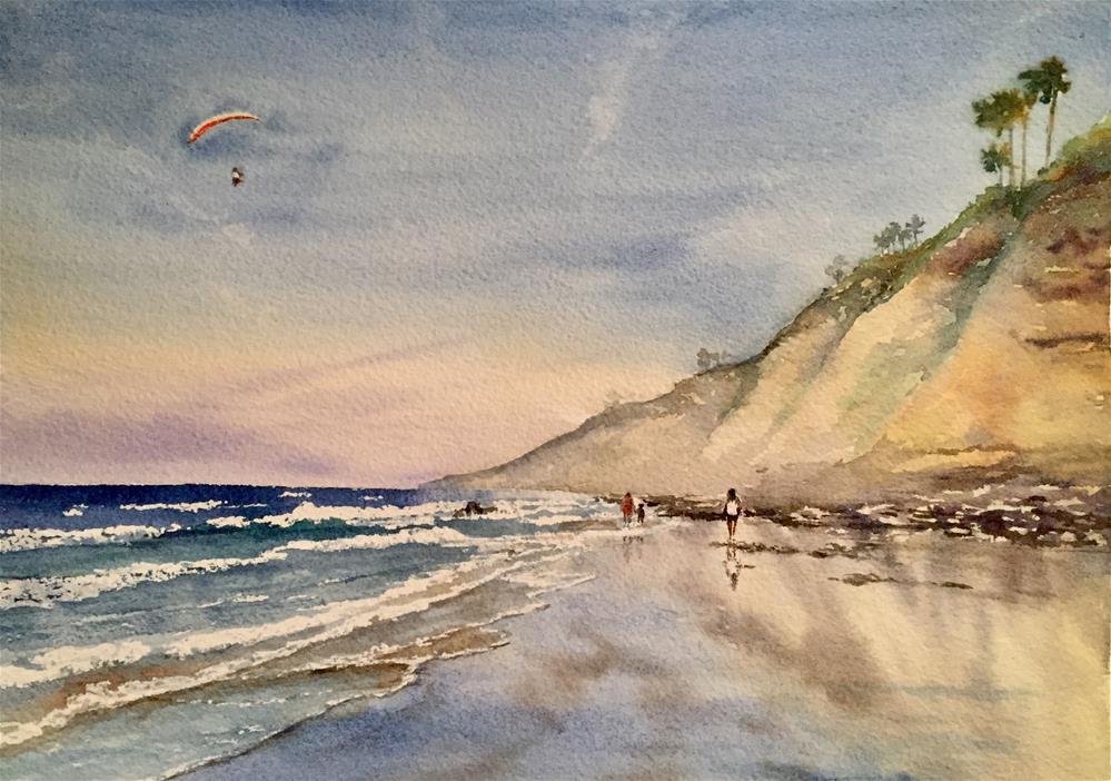 """Torrey Pines Beach, San Diego"" original fine art by Natasha Ramras"