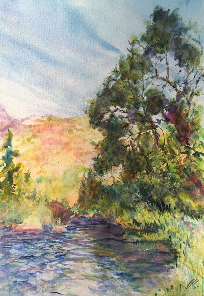 """Grape Creek, Fremont County, Colorado"" original fine art by Jean Krueger"
