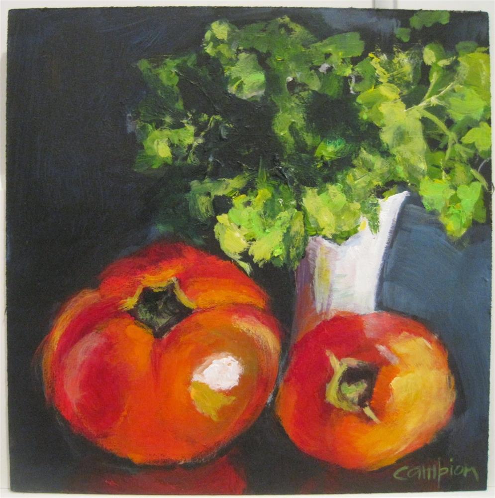"""429 Fresh From the Farm"" original fine art by Diane Campion"