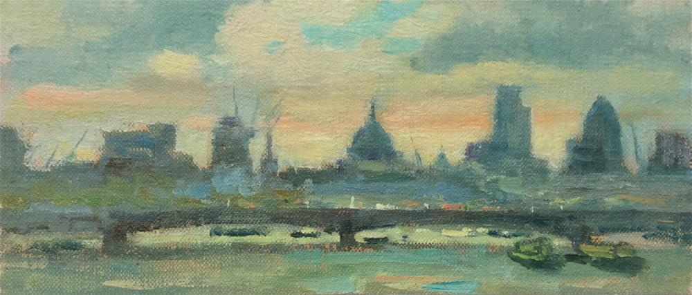 """Along The Thames"" original fine art by John Shave"