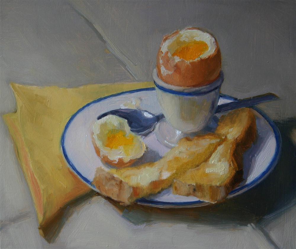 """Softly Boiled"" original fine art by Liz Balkwill"