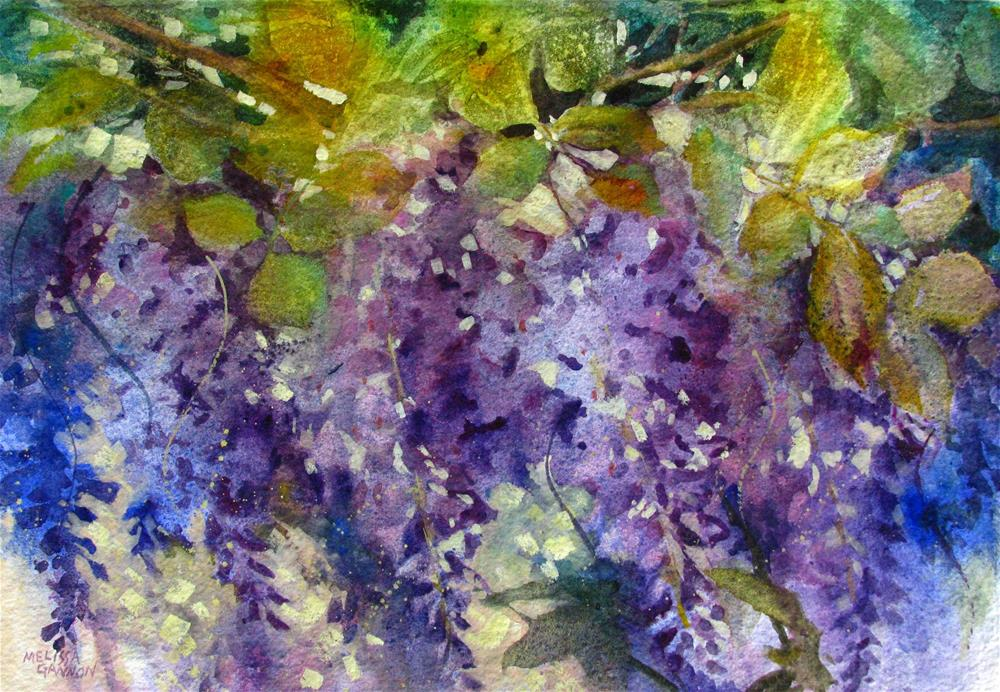 """Magic in Purples & Greens"" original fine art by Melissa Gannon"