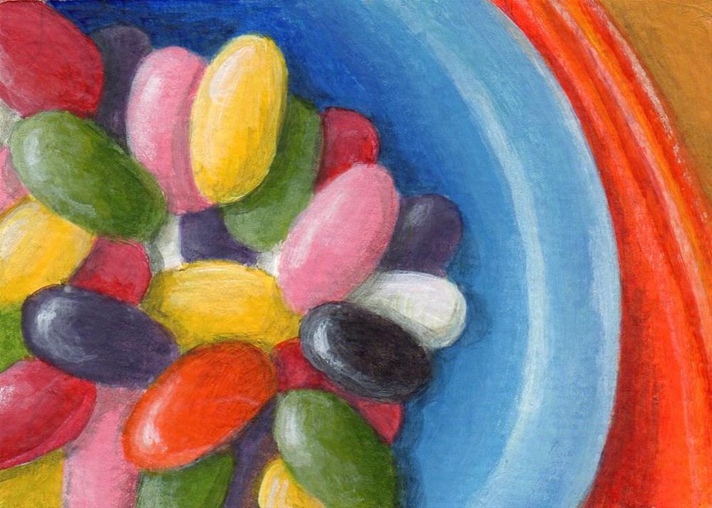"""Jellybeans!"" original fine art by Debbie Shirley"