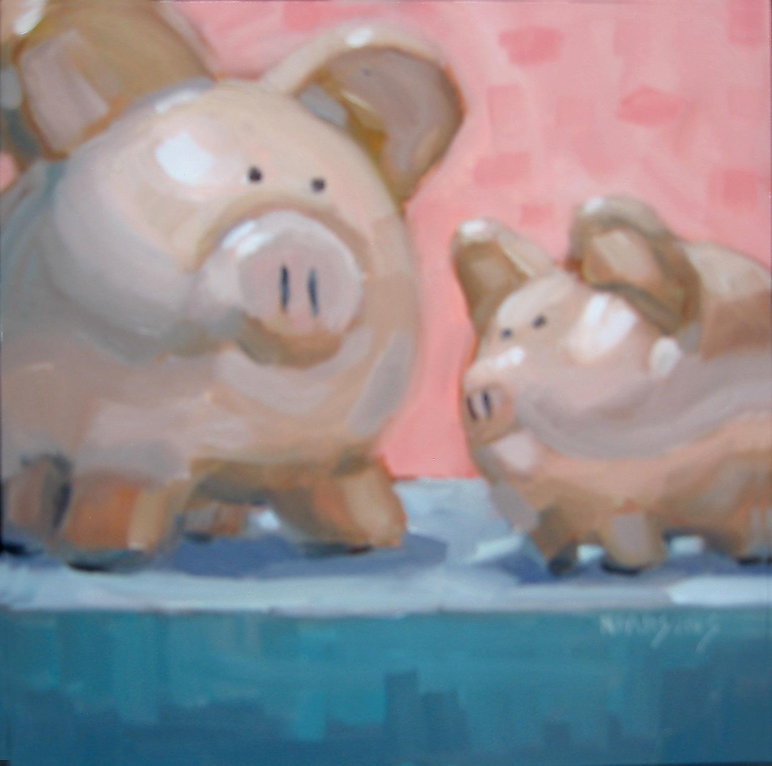 """""""Wee-Wee-Wee"""" original fine art by Nancy Parsons"""