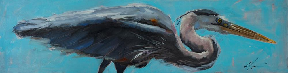 """Great Blue"" original fine art by Clair Hartmann"